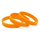 Силиконовый браслет Оранжевый (PMS 144C) размер Взрослый (202*12*2 мм)