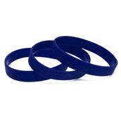 Силиконовый браслет синий (PMS 294C) размер Взрослый (202*12*2 мм)