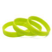 Силиконовый браслет зеленый (PMS 375C) размер Взрослый (202*12*2 мм)
