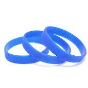 Силиконовый браслет синий (PMS 2935C) размер Подростковый (180*12*2 мм)