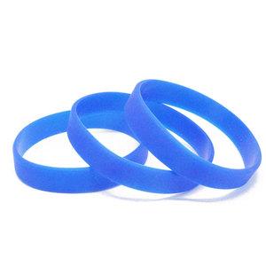 Силиконовый браслет синий (PMS 2935C) размер Взрослый (202*12*2 мм)