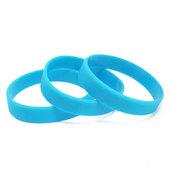 Силиконовый браслет голубой (PMS 306C) размер Взрослый (202*12*2 мм)