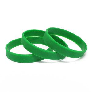Силиконовый браслет зеленый (PMS 356C) размер Взрослый (202*12*2 мм)