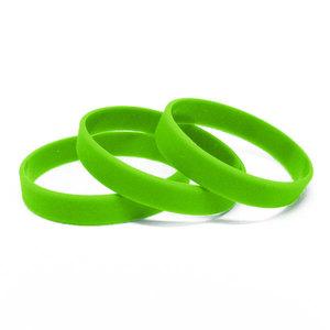 Силиконовый браслет зеленый (PMS 802C) размер Взрослый (202*12*2 мм)