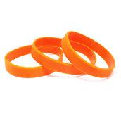 Силиконовый браслет оранжевый (PMS 021С) размер Подростковый (180*12*2 мм)