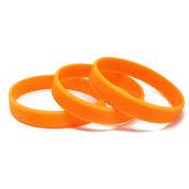 Силиконовый браслет персиковый (PMS 804C) размер Взрослый (202*12*2 мм)