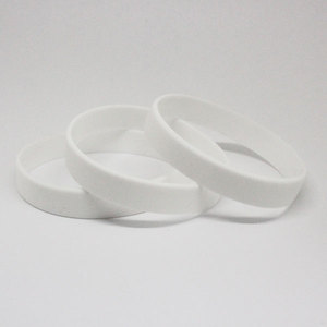 Силиконовый браслет Белый размер Взрослый (202*12*2 мм)