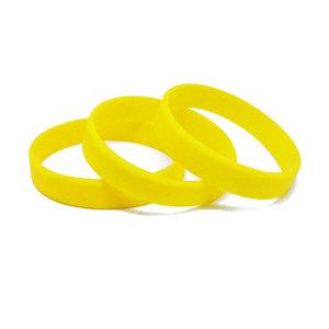 Силиконовый браслет желтый (PMS 012C) размер Взрослый (202*12*2 мм)