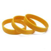 Силиконовый браслет песочно-желтый (PMS 143C) размер Взрослый (202*12*2 мм)