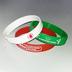 Силиконовый браслет красный (PMS 1795C) размер Взрослый (202*12*2 мм)