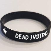 """Браслет силиконовый """"DEAD INSIDE"""". 1 шт. размер взрослый"""