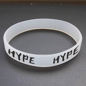 """Браслет силиконовый """"HYPE"""". 1 шт. размер взрослый прозрачный"""