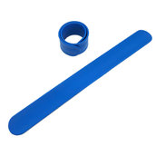Силиконовый слеп-браслет синий 2935С