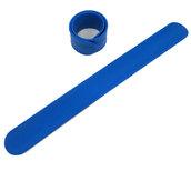 Силиконовый слеп-браслет синий 286С