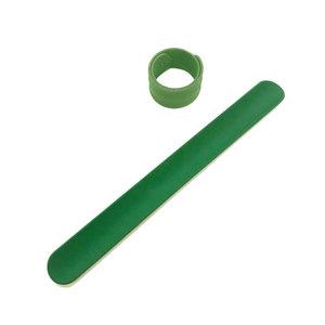 Силиконовый слеп-браслет зеленый 356С