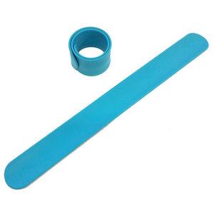 Силиконовый слеп-браслет голубой 306С