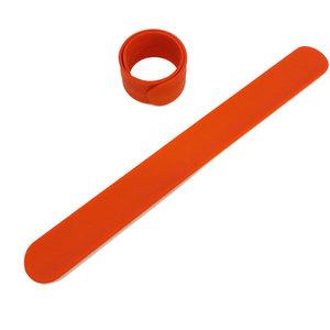 Силиконовый слеп-браслет оранжевый 021С