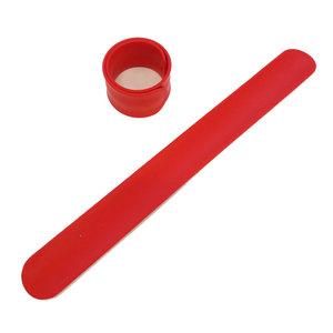 Силиконовый слеп-браслет красный 1795С
