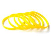 Силиконовый браслет желтый (PMS 012C) узкий (202*6*2 мм)