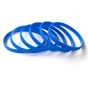 Силиконовый браслет синий (PMS 2935C) узкий (202*6*2 мм)