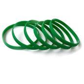 Силиконовый браслет зеленый (PMS 356C) узкий (202*6*2 мм)