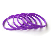 Силиконовый браслет фиолетовый (PMS 527C) узкий (202*6*2 мм)