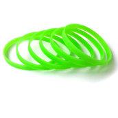 Силиконовый браслет зеленый (PMS 802C) узкий (202*6*2 мм)