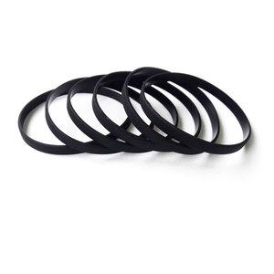 Силиконовый браслет черный узкий (202*6*2 мм)