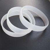 Силиконовый браслет прозрачный размер Взрослый (202*12*2 мм)