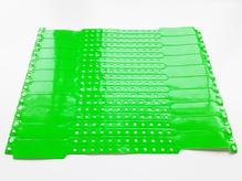 Виниловый браслет ярко-зеленый