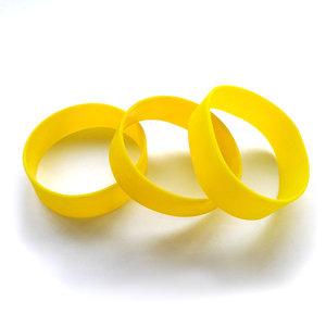Силиконовый браслет желтый (PMS 012С) размер Широкий(202*20*2 мм)
