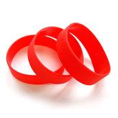 Силиконовый браслет красный (PMS 1795C) размер Широкий(202*20*2 мм)