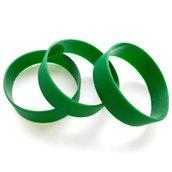 Силиконовый браслет зеленый (PMS 356С) размер Широкий(202*20*2 мм)