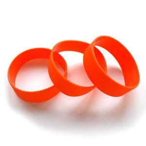 Силиконовый браслет оранжевый (PMS 021С) размер Широкий(202*20*2 мм)