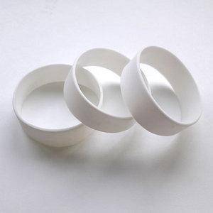 Силиконовый браслет белый размер Широкий(202*20*2 мм)